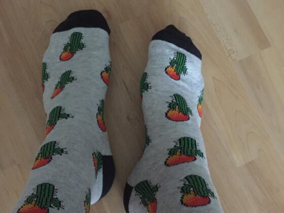 Mit Kaktus Socken im Cactus